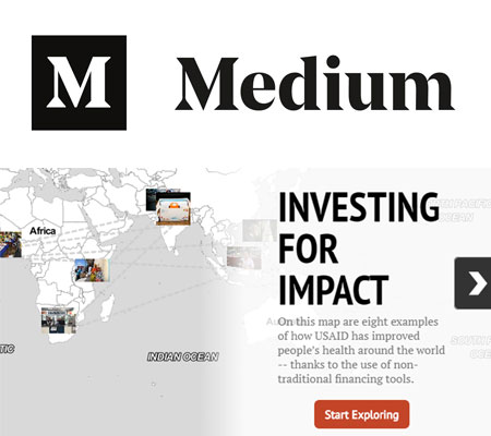 Screen shot of Medium story on Investing for Impact