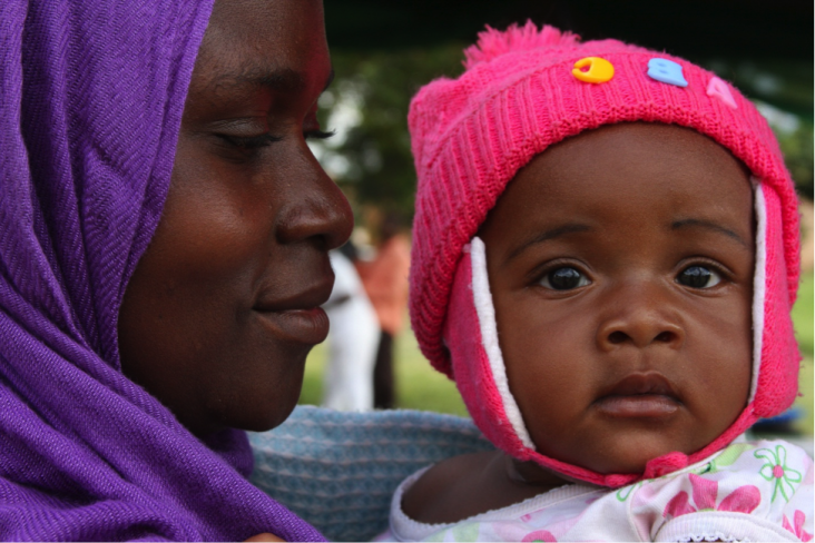 Photograph of Monica Elias and her daughter, Angel. Photo Credit: Charlotte Cerf, USAID