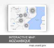 Interactive Map: Mozambique map.usaid.gov