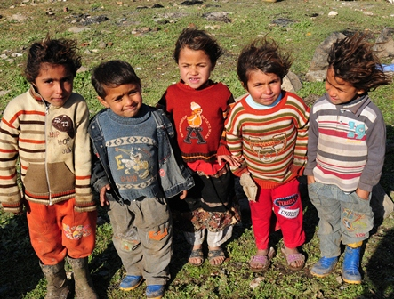 Children in Turkey at a refugee camp.