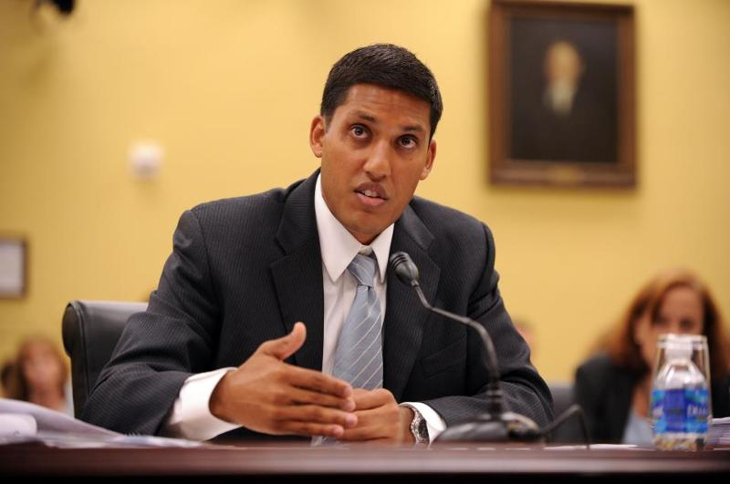 USAID Administrator Raj Shah testifying on the Hill.