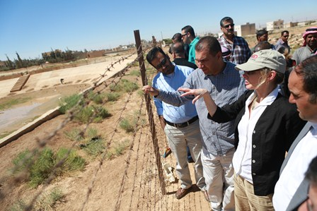 Assistant Administrator Nancy Lindborg visits Complex Crisis Fund water management program in Mafraq, Jordan, where Jordanian co
