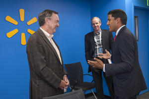 (from L-TO-R) Mike Duke, President & CEO, Walmart; Dan Bartlett, Executive VP of Corporate Affairs, Walmart; Rajiv Shah, Adminis