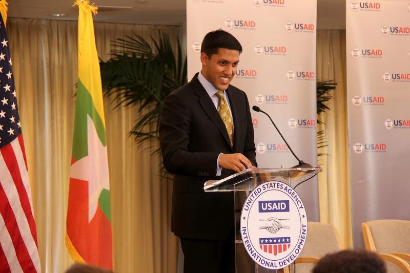 USAID Administrator Rajiv Shah addresses the audience