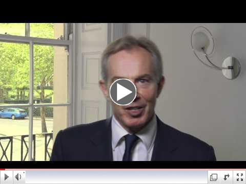 Tony Blair addresses USAID's  Frontiers in Development Conference