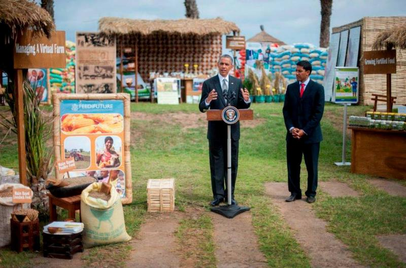 President Obama speaks on food security in Senegal with Administrator Shah.