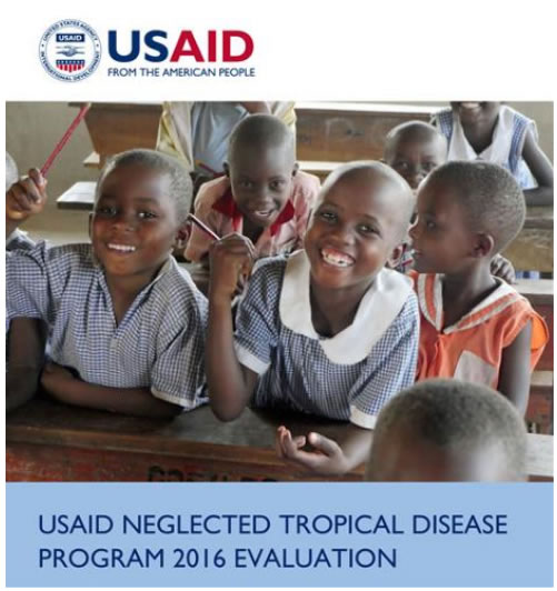Cover of the USAID NTD Program 2016 Evaluation.