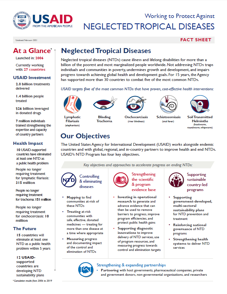 Neglected Tropical Diseases Fact Sheet