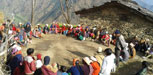 Community members participate in a food demonstration program held in Myagdi district, Nepal.