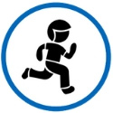 Icon of a running child