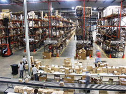 Essential HIV and AIDS medicines and supplies flow through this SCMS warehouse.