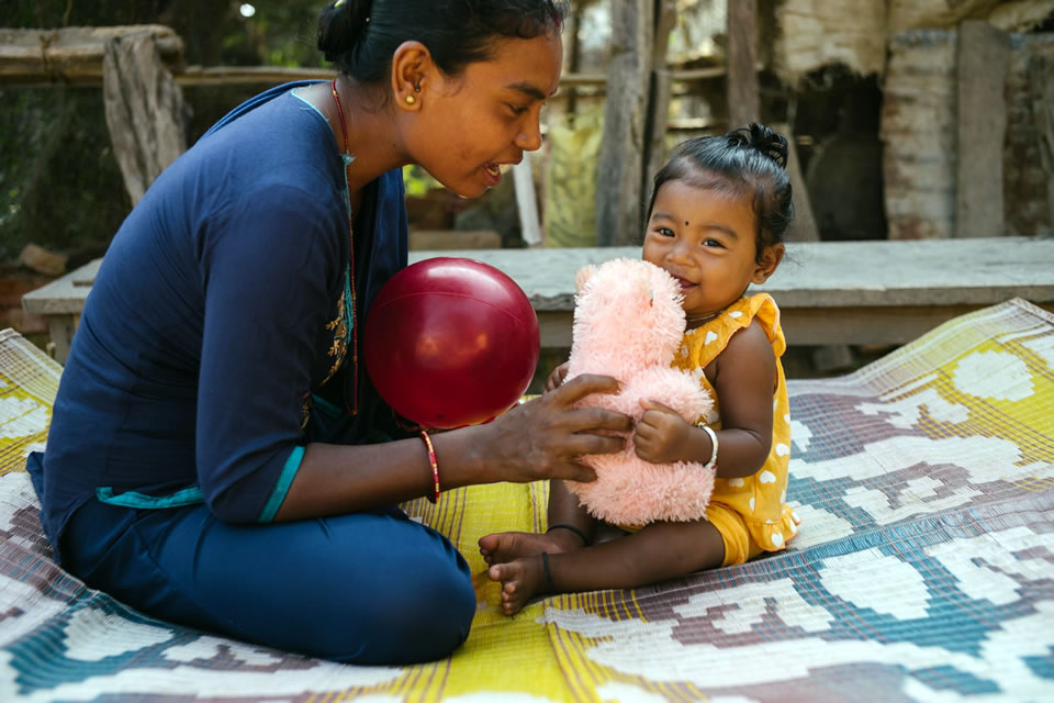 Bimala with her 10-month-old daughter, Sudikchya. Photo: Dave Cooper for USAID
