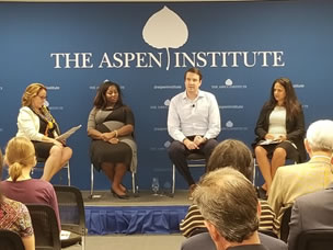 Photo from the Aspen Institute event.