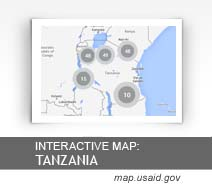 Interactive Map: Tanzania map.usaid.gov