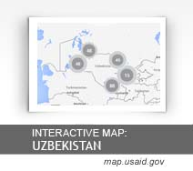 Interactive Map:  Uzbekistan map.usaid.gov