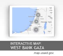 Interactive Map:  West Bank and Gaza map.usaid.gov