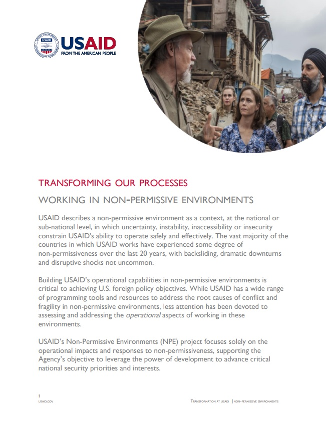 Fact Sheet: Working in Non-Permissive Environments