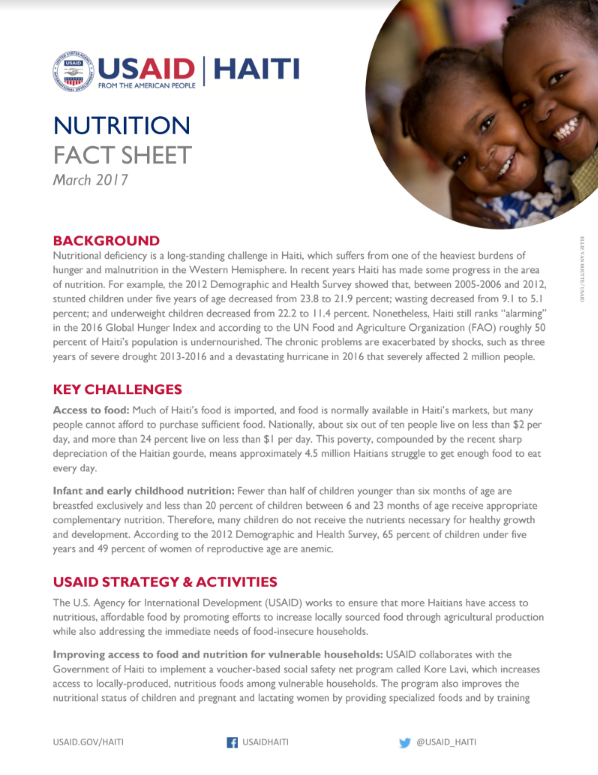 Final Nutrition Fact Sheet - March 2017