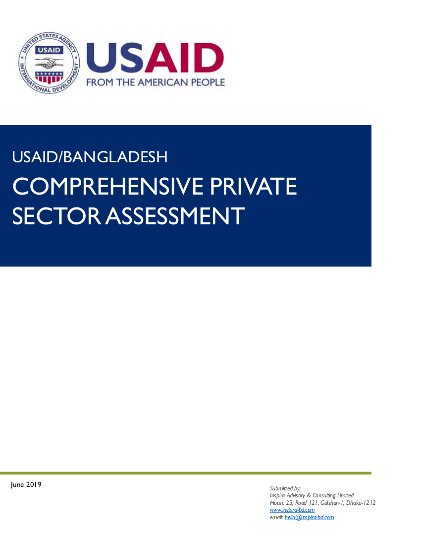 Comprehensive Private Sector Assessment