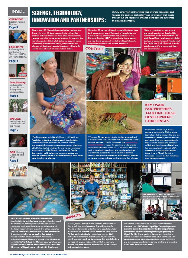 USAID/Nepal Quarterly Newsletter - July-September 2013 - Page 2