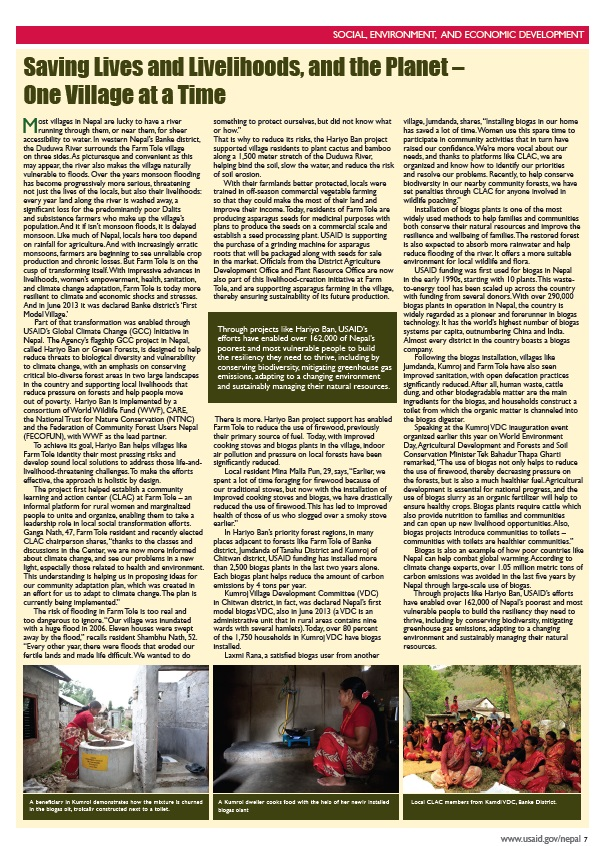 USAID Nepal Newsletter_one village at a time