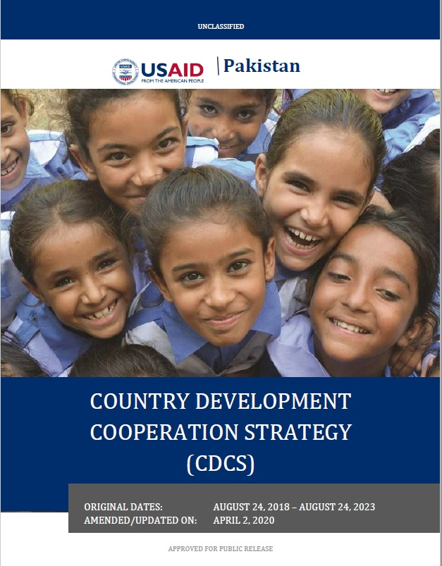 Country Development Cooperation Strategy (CDCS) for Pakistan 2018-2023
