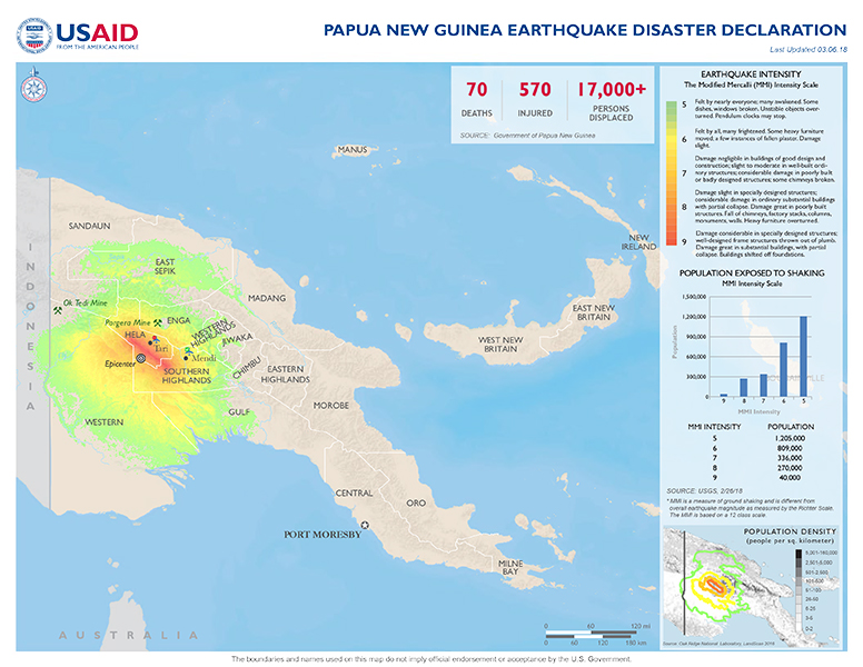 Papua New Guinea Disaster Assistance US Agency for