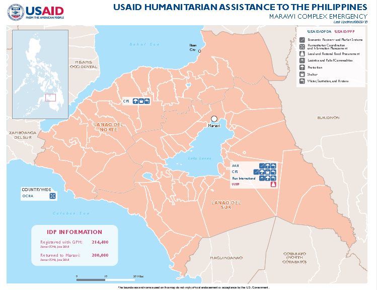Philippines Complex Emergency Map #3 FY18 June 29, 2018