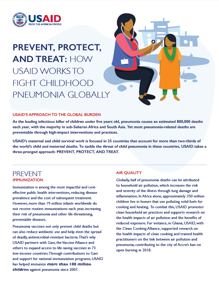 Prevent, Protect, and Treat: How USAID Works to Fight Childhood Pneumonia Globally