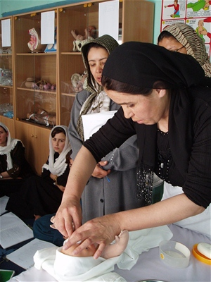 A midwifery training session supported by USAID in Afghanistan