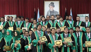 115 graduates of the Judicial Stage training received their diplomas at the Afghanistan Supreme Court.