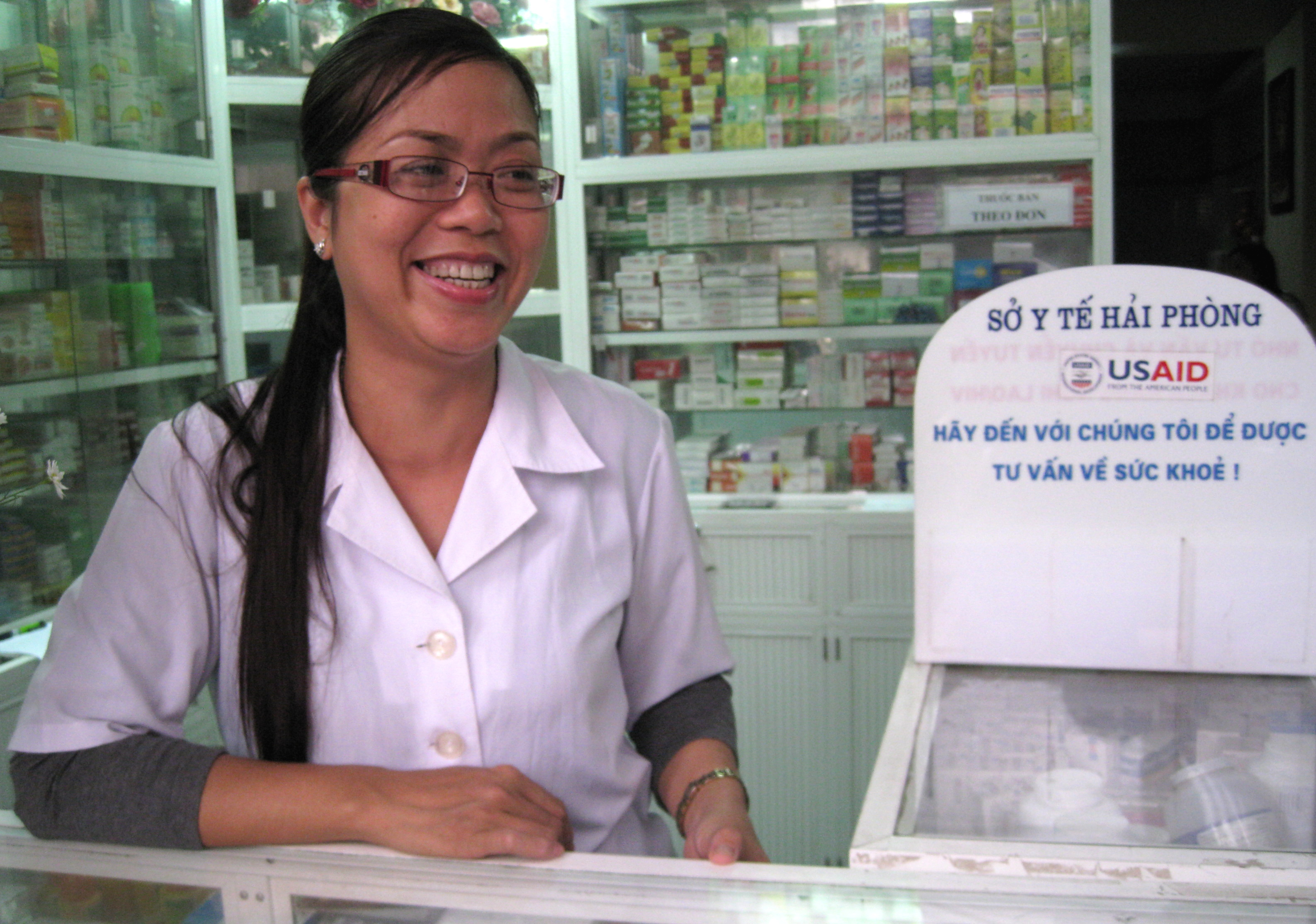 Pharmacies take part in TB referral services with support from USAID.