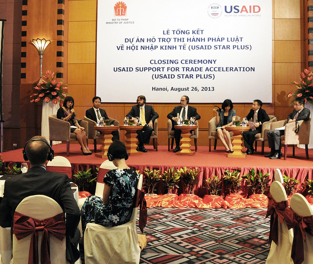 Panelists discuss results of the USAID STAR program at a closing ceremony.