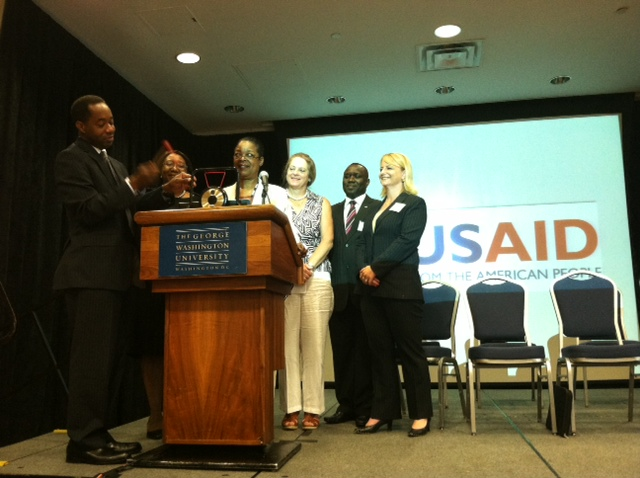The ringing of the bell to officially open the African Diaspora Marketplace