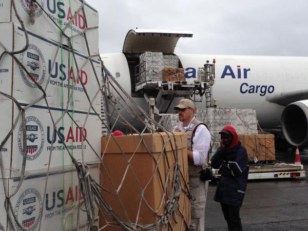 On August 24 a flight carrying more than 16 tons of medical & emergency supplies landed in Liberia.