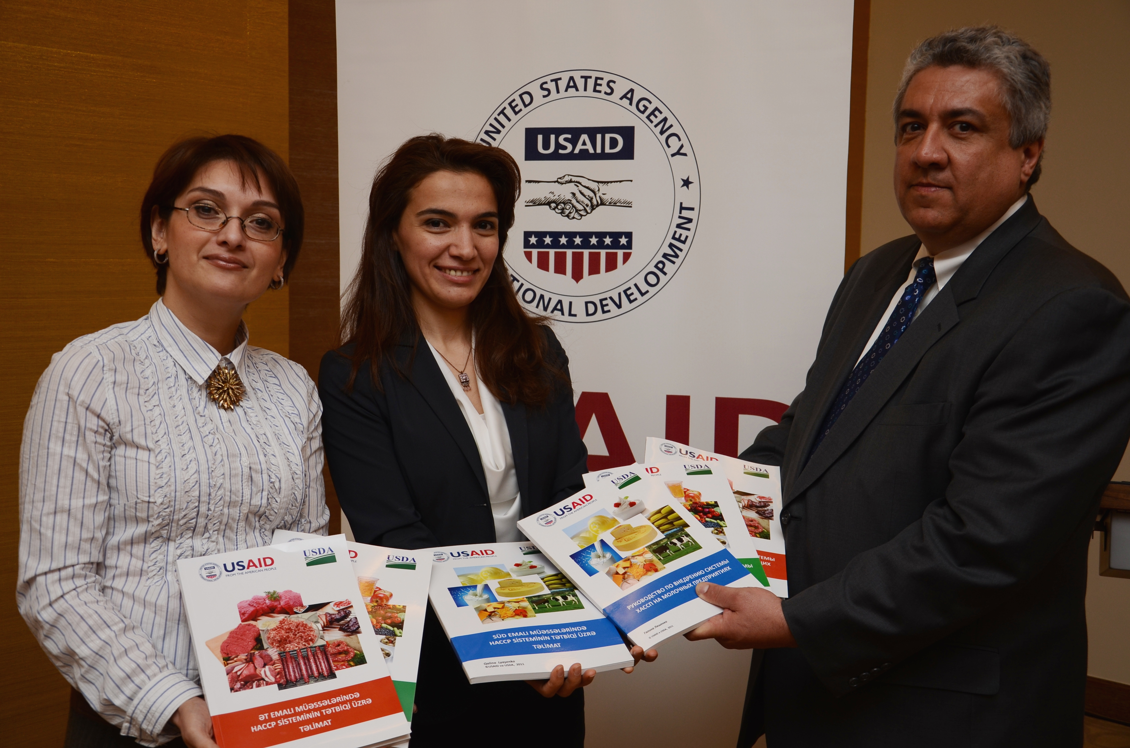 USAID and USDA collaborated in the production of the HACCP Manuals.