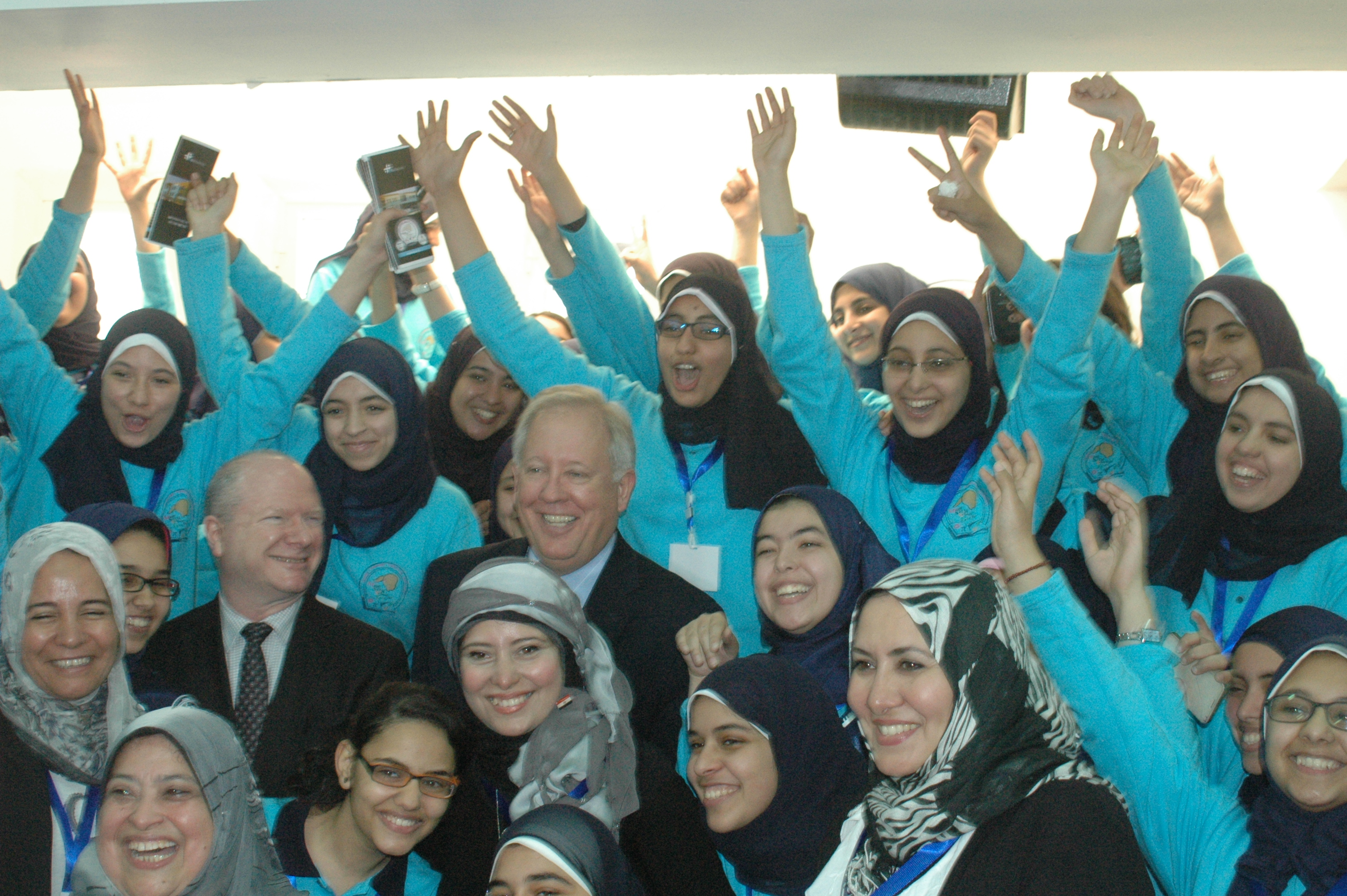 U.S. government delegation visits USAID-supported Maadi STEM High School