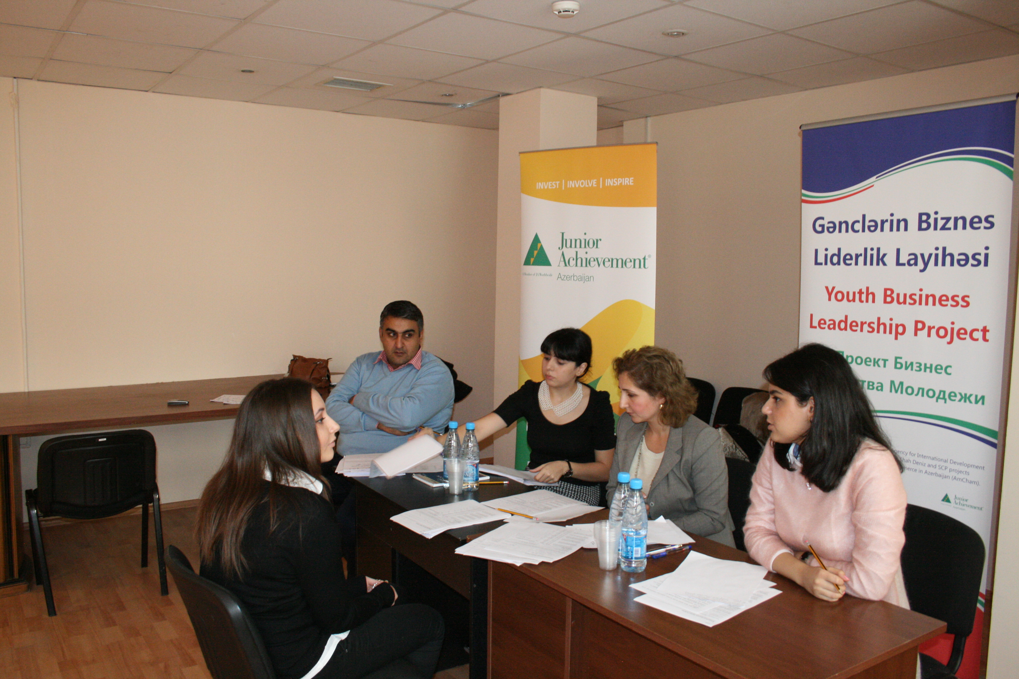 The panel from USAID, JAA and BP interviews an applicant student.