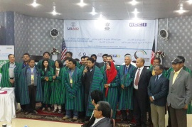 India delegation at the second India-Afghanistan innovation fair in Mazar city.