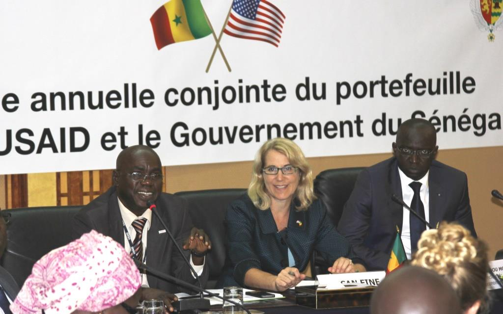USAID and Senegal officials at the annual review