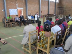 USAID Mission Director Patricia Rader talks to Fast Start students