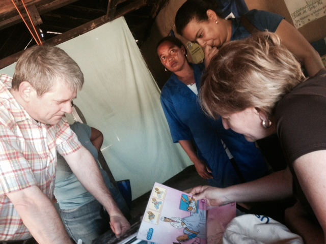 Senior DAA Wade Warren meets with community health workers in southwestern Madagascar
