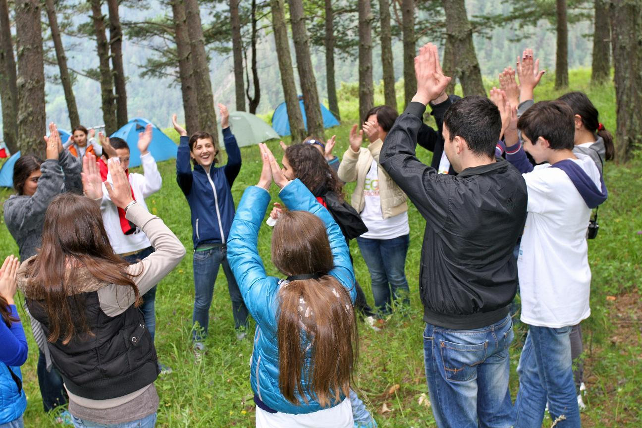 Students attend one of the 38 eco-camps supported by USAID