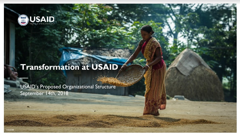 Presentation: USAID's Proposed Structure