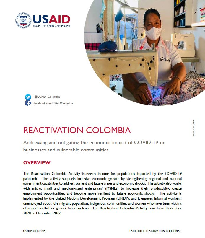 Reactivation Colombia Fact Sheet
