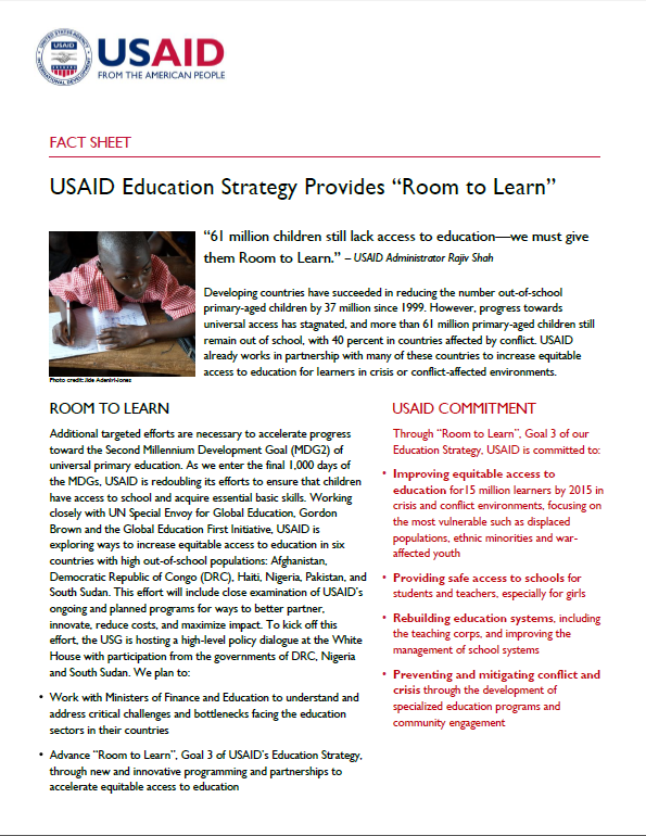 Room to Learn Fact Sheet
