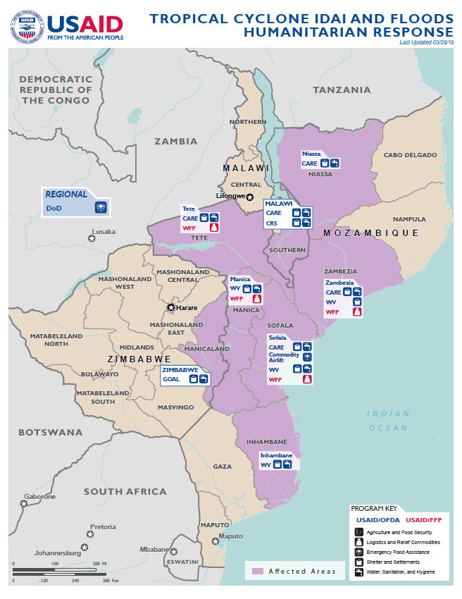 Southern Africa - Tropical Cyclone Idai - Map #3 FY2019