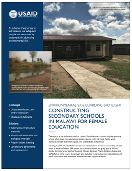 Constructing Secondary Schools in Malawi for Female Education