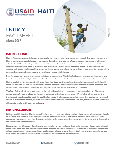 Energy Fact Sheet (2017)