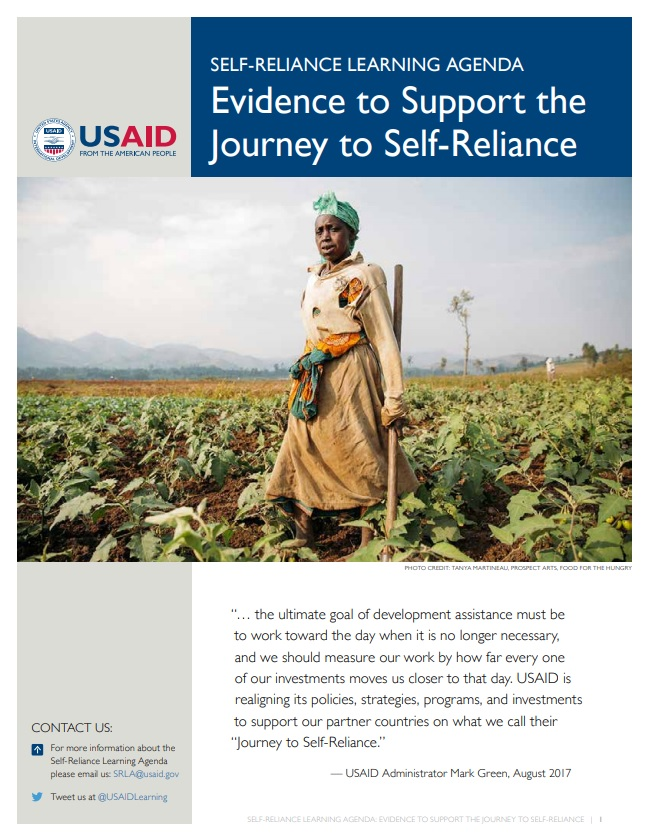 Self-Reliance Learning Agenda Fact Sheet